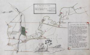 Mappa della possessione detta i Prati di San Celso del Consorzio della Misericordia. La mappa è una copia settecentesca del cabreo del 1683