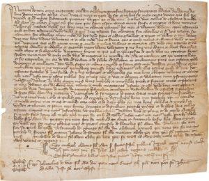 Donazione di Giacomo Assandri al Consorzio della Misericordia, 1374