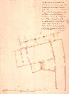 Planimetria dell'oratorio e della sala capitolare del Luogo pio delle Quattro Marie, XVIII secolo