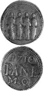 Segno di beneficenza del Luogo pio delle Quattro Marie, 1710