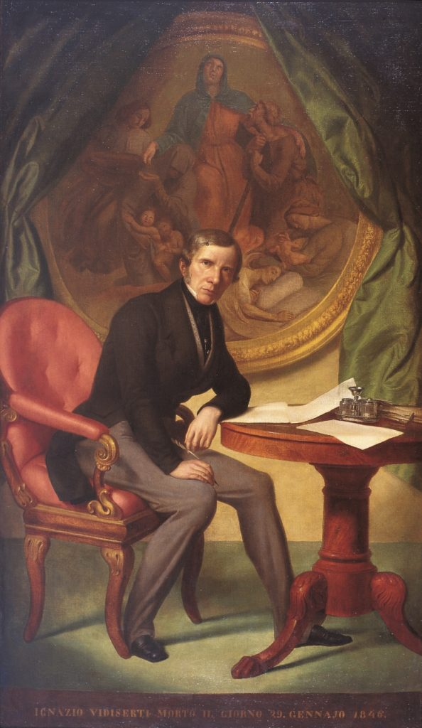Carlo Picozzi, Ritratto di Ignazio Vidiserti, 1847
